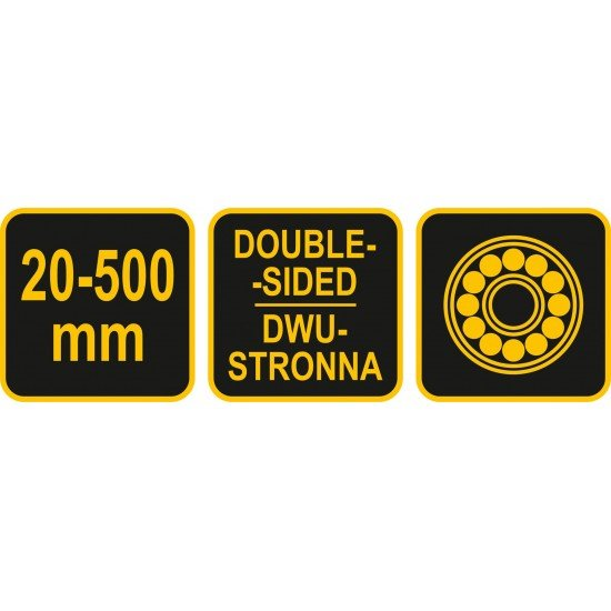 Резак-рейсмус двусторонний к г/к плит шириной 20-500 мм VOREL 04770