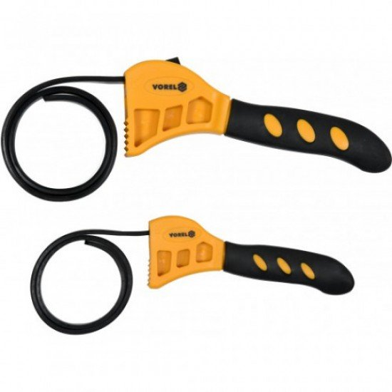 Ключ разводной (лента) для масляного фильтра 10-160 мм, 2 шт. Vorel 57616