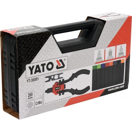 Заклепочник 260 мм универсальный 3в1 YATO YT-36091