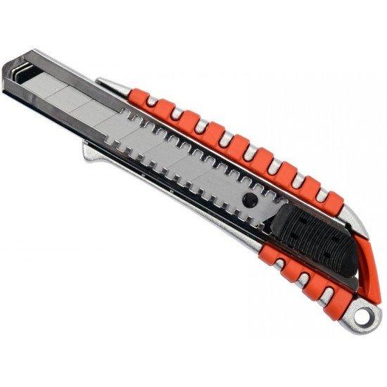 Нож универсальный 18мм с запасным лезвием Yato YT-75122
