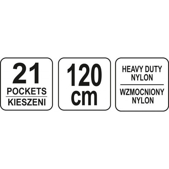 Ремень монтажный 21 карман  YT-7400