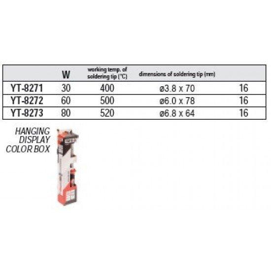 Электропаяльник стержневой 30Вт Yato YT-8271