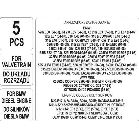 Набор для обслуживания двигателей BMW/CITROEN 5 эл. YATO YT-06004