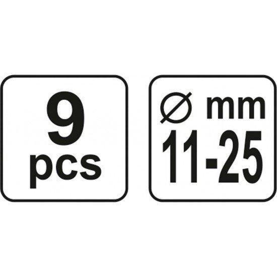 Набор для центровки дисков сцепления YATO Ø11-25 мм 9 шт YT-06311