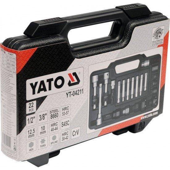 Інструменти для ремонту автомобільних генераторів YATO, Набір 22пр.  (15) YT-04211