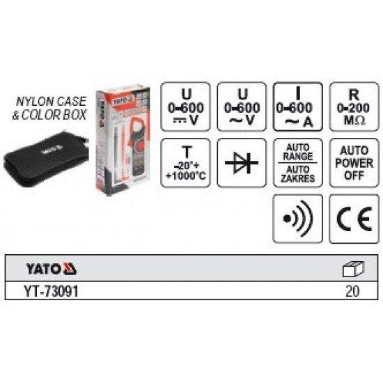 Цифровые измерительные клещи Yato YT-73091