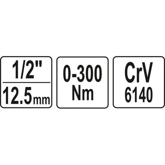 Ключ стрелочный динамометрический 1/2'' 0-300Nm Yato YT-07641