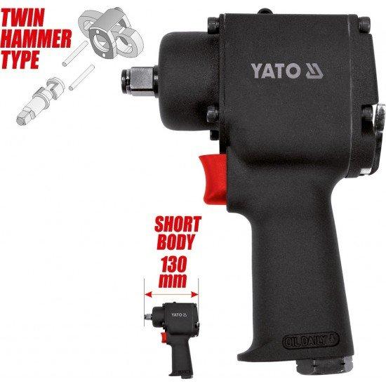 "Pneumatic impact wrench 1/2"" MINI 680Nm Yato YT-09513"